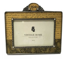 Vintage Home Collection Metal Mother Picture Frame Holds 6 x 4 Photo Pearls