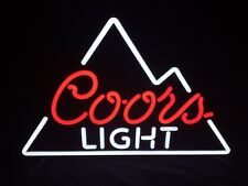 "COORS LIGHT BEER SIGN LED LIGHTED BAR MANCAVE PUB  24"" x 18"" NEW IN BOX"