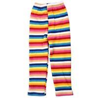 Legging Pantalons d'hiver en toison a rayures d'arc en ciel chaud pour les L6L2