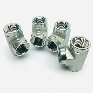 LOT OF 4 UNBRANEDED 1IN FEMALE PIPE ADAPTER FORGED STEEL FITTING