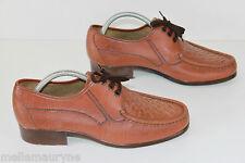 FILANTO Derby à lacets Vintage Cuir Tressé Marron T 42 TTBE