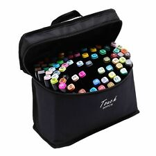 80 Colour Dual Tip Twin Marker Pen Set For Copic Uni Posca Drawing Artist Sketch