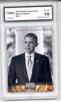 2012 Barack Obama Panini Americana Card  gem mint 10 #44