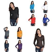 Blouse Long Sleeve V Neck Tops & Shirts for Women