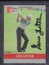 Gene Littler 1990 PGA Tour Pro Set # 91 autographié signé jhpsg