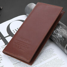 Mens Long Casual Business Leather Wallet ID Card Clutch Bifold Purse US Seller
