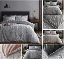 New Design SNUG LUXE Teddy Fleece Fluffy Duvet Cover Set Cosy Warm Soft Bed Set