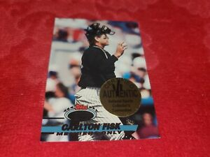 NATIONAL SPORTS COLLECTORS CONVENTION 1/1 CARD OF CARLTON FISK CERTIFIED 1/1