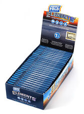 1 box - Elements PERFECT FOLD Rolling paper size 1 1/4 - total 25 booklets