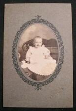 Baby On Wicker Sofa Antique Cabinet Card Photograph W A Dietrich Kutztown Pa (O)