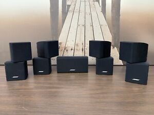 Lot Of 4 Bose Double Cube Speakers 1 Center Channel Lifestyle 28/38/V25/V35great