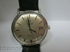 VINTAGE OMEGA AUTOMATIC SEAMASTER DeVILLE DATE WATCH MENS 33MM SILVER DIAL