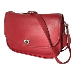 Coach #9790 - Leather City Bag Shoulder Crossbody Purse Flap -Vintage