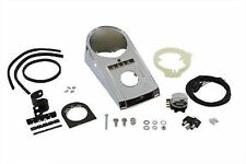 Chrome Bobbed Speedometer Dash Panel Cover Kit Switch 1986-1999 Harley Softail