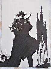 A4 Bolígrafo Marcador De Arte Dibujo pistolero de la Torre Oscura un cartel