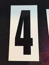 Go Kart - Number #4 - White Background - Large - NEW