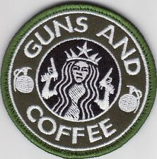 ISAF. AFGHANISTAN. MORALE PATCH. GUNS AND COFFEE. FREE SHIPPING