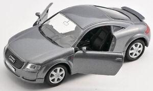 BLITZ VERSAND Audi TT grau / gray 1:34 Welly Modell Auto NEU & OVP