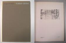 ACQUEFORTI CARLO LEONI Giorgio Celli autografo Tamari Bologna anni '70