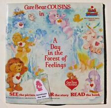 Vtg Care Bear Cousins A Day in the Forest of Feelings Book  w/record 1985