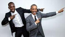 Usain Bolt World's Fastest Man and President Obama 8x10 PHOTO