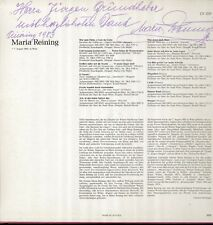 Mozart, Puccini, Strauss, signed, Maria Reining LP CON DEDICA
