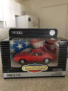 ERTL Red 1968 Pontiac GTO #2589 1/43 Scale Die Cast