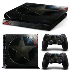 Sony PS4 Console and Controller Skins / Decal -- Captain America Shield PS4-1031