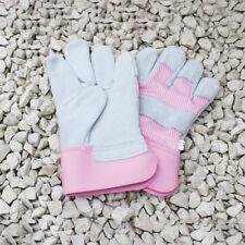 Mujer APAREJADOR Clásico gruesa Piel Palm RESISTENTE rosa Jardín