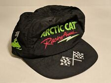 Vintage Black 80s ARCTIC CAT Snowmobile Racing Snapback Hat! Rare!! Made in USA!