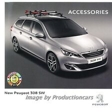 2014 Peugeot 308 SW 20-page Factory Accessories Sales Brochure Catalog