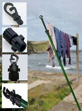 2 x Outdoor Extend Drying Clothes Prop Line Washing Pole Twist lock Support 2.4m