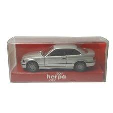 Herpa Collectors 1992 #031172 BMW M3 1-87 HO Scale Silver Plastic Car Replica
