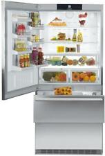 """Liebherr Cs2061 36"""" Counter Depth Bottom Freezer Refrigerator in Stainless Steel"""