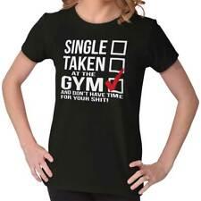 Single Taken Gym Workout Exercise Fitness Womens Short Sleeve Ladies T Shirt