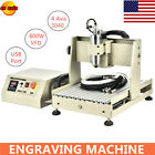4 Axis USB 3040 CNC Router Engraver Engraving Milling Drilling Machine 800W VFD