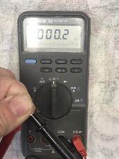 Fluke 83 Digital Multimeter Average Rms Dmm Leads not a 85 87 Iii Tested working