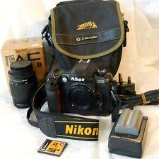 Nikon D100 + Nikkor 28-80mm f 3.5-5.6 + Battery/mains Charger/ Mem Bag & strap