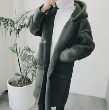 Mens Suede Leather Coat Thicken Long Oversize Casual Jacket Outwear Size Ske15