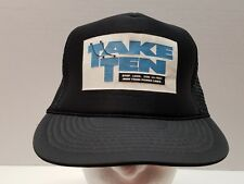 VTG Take Ten Trucker Hat Ball Cap Stop Look Stay 10 Feet Away From Power Lines