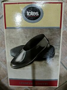 Totes Men's Geometric Loafer Waterproof Rubber Shoe Covers Large, SZ 9 1/2 - 11
