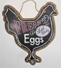 Fresh Eggs Laid Daily Sign Plaque Chicken Hen Country Farm Primitive