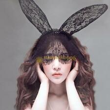Costume Party Lace Rabbit Bunny Long Ears Veils On Headband Hairband Dress Fancy