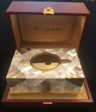 REUGE MUSIC Mother of Pearl Singing Bird Box with Original Box