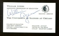 Bill Ayers Signed Business Card Autographed Weather Underground 55918