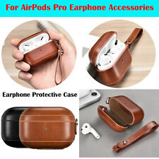 Leather Storage Bag Case Protector for AirPods Pro Earphone Protective Cover Box