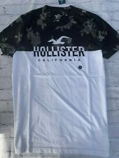 NEW Men's Hollister Logo Graphic T Shirt Short Sleeve Tee Size S HCO Floral