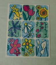 Scrapbooking Stickers - 1 Sheet Flowers - NEW