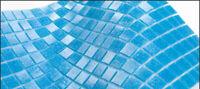 Poolmosaik Schwimmbadmosaik Glasmosaik Fliese blau 200-A14 / 1Matte