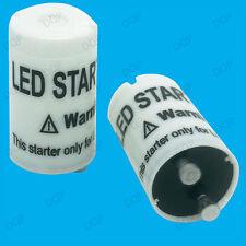 2x LED Starter, convertire facilmente per tubi a LED sostituire i raccordi fluorescenti Starter